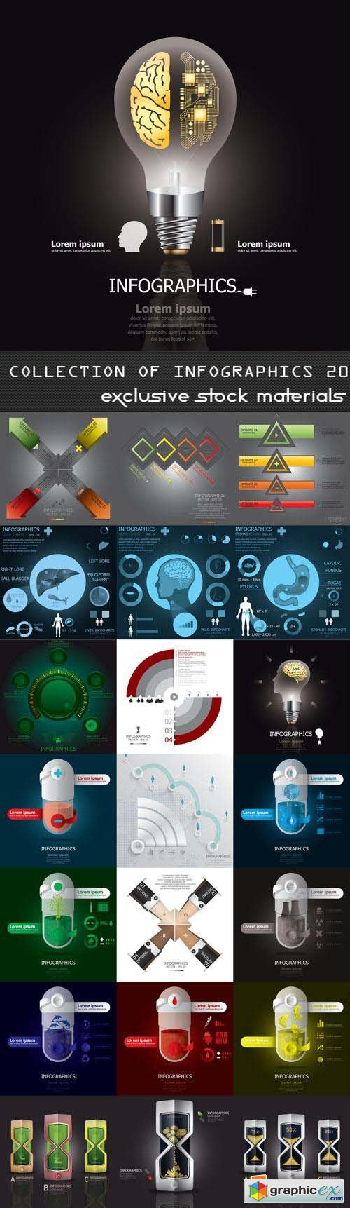 Collection of Infographics Vol.20, 25xEPS