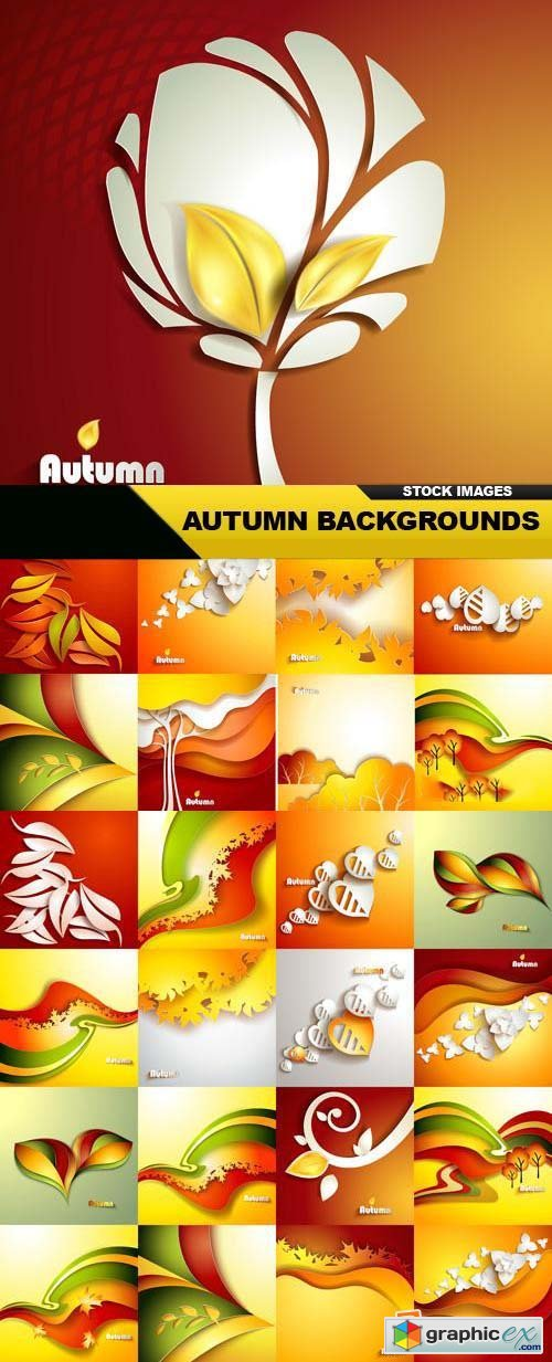 Autumn Backgrounds 25xEPS