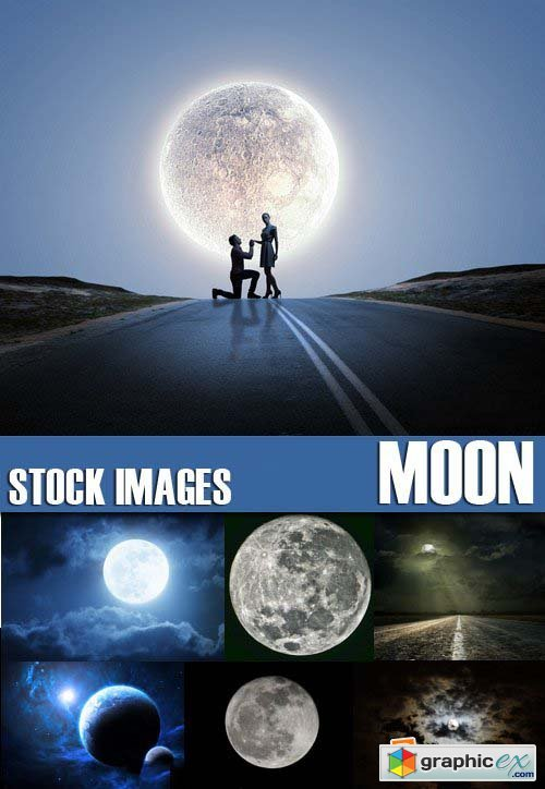 Stock Photos - Moon, 25xJPG