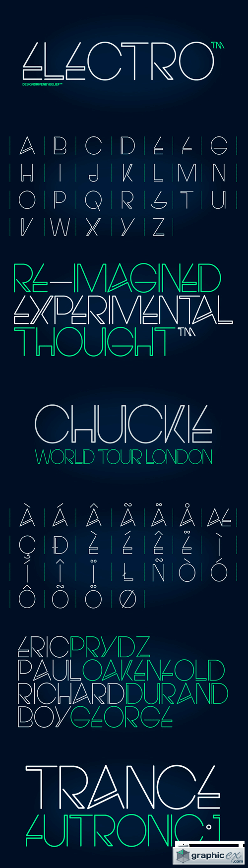 Electro Font for $25