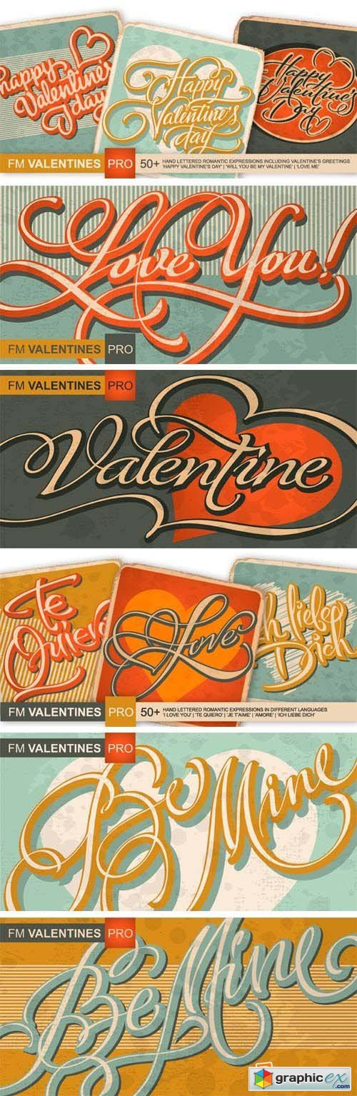 FM Valentines Pro Font for $29