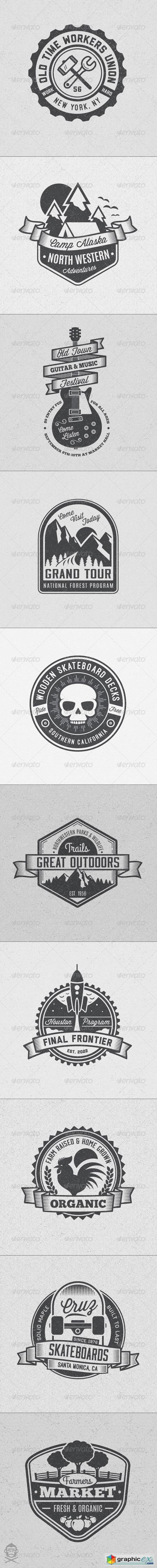 Vintage Style Badges and Logos Vol 4 8594929