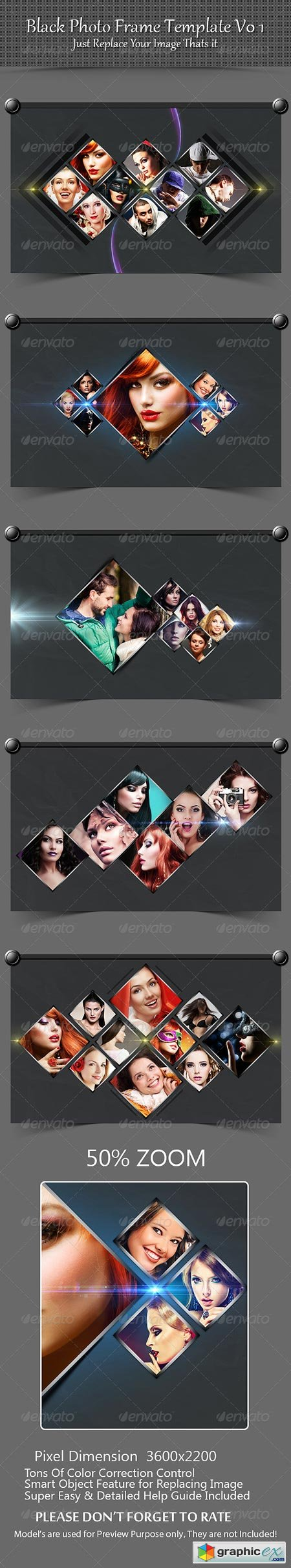 Black Photo Frame Template V01 8560823