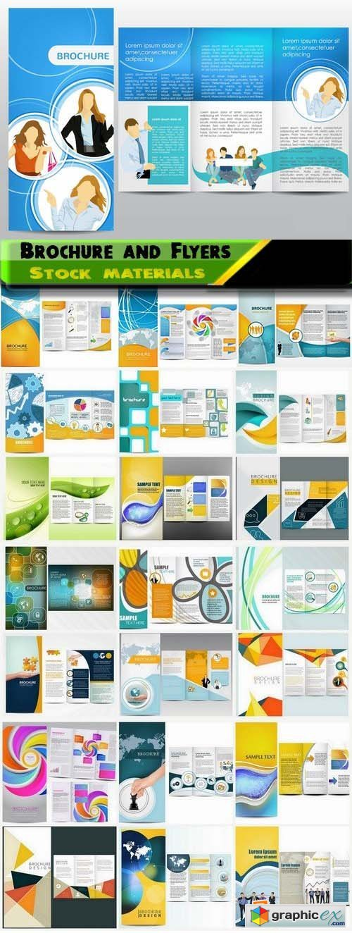 Brochure and Flyers Template Design in vector from stock 14 25xEPS