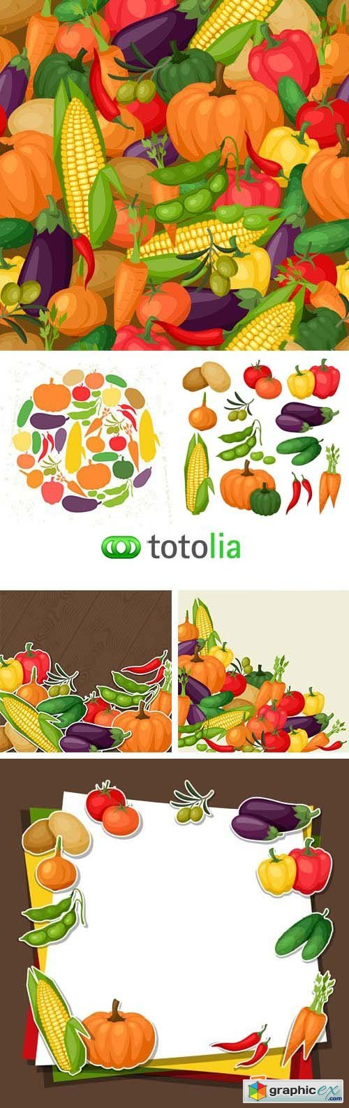 Stylized Vegetables - 25xEPS