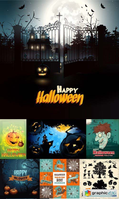 Stock Vectors - Halloween 2, 25xEPS