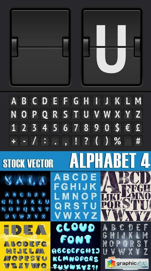 Stock Vectors - Alphabet 4, 25xEPS
