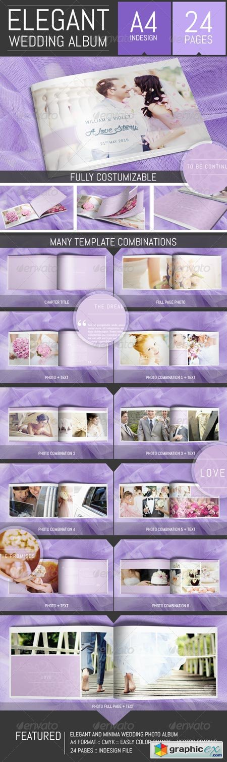 Wedding Photo Album Template 8127731