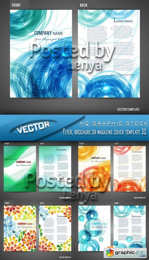 Stock Vector - Flyer, brochure or magazine cover template 30