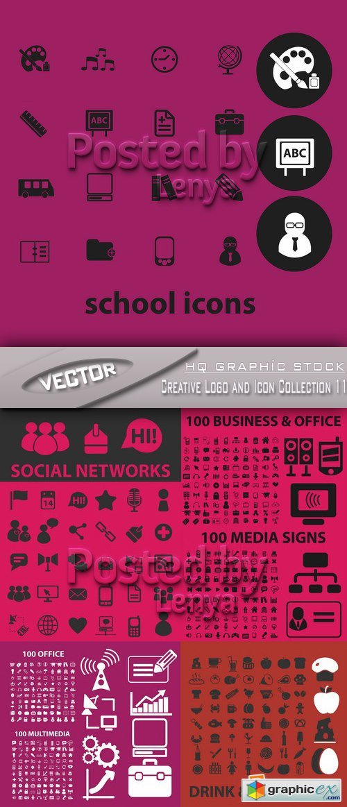 Stock Vector - Creative Logo and Icon Collection 11