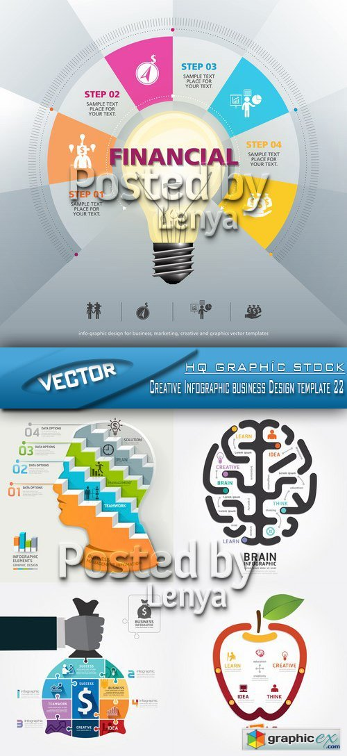 Stock Vector - Creative Infographic business Design template 22