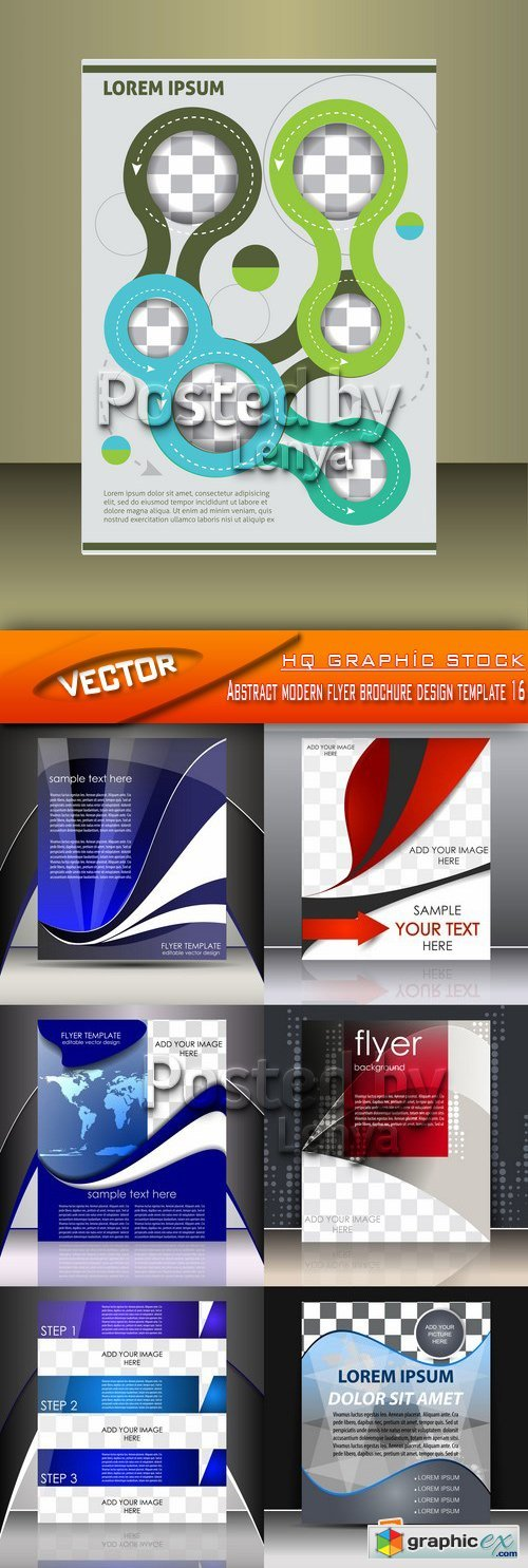 Stock Vector - Abstract modern flyer brochure design template 16