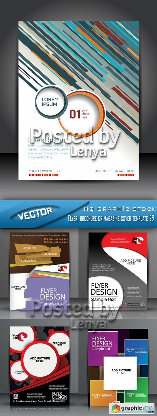 Stock Vector - Flyer, brochure or magazine cover template 29