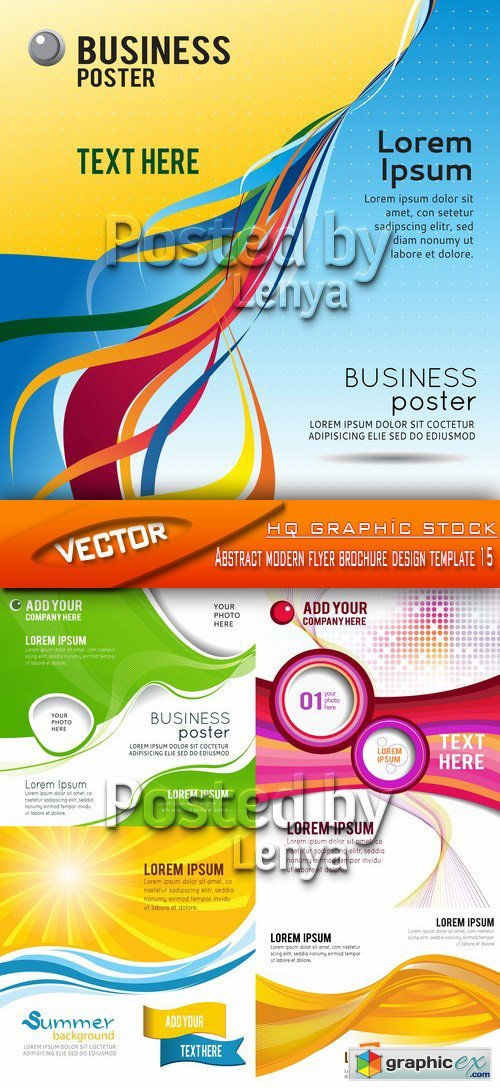 Stock Vector - Abstract modern flyer brochure design template 15