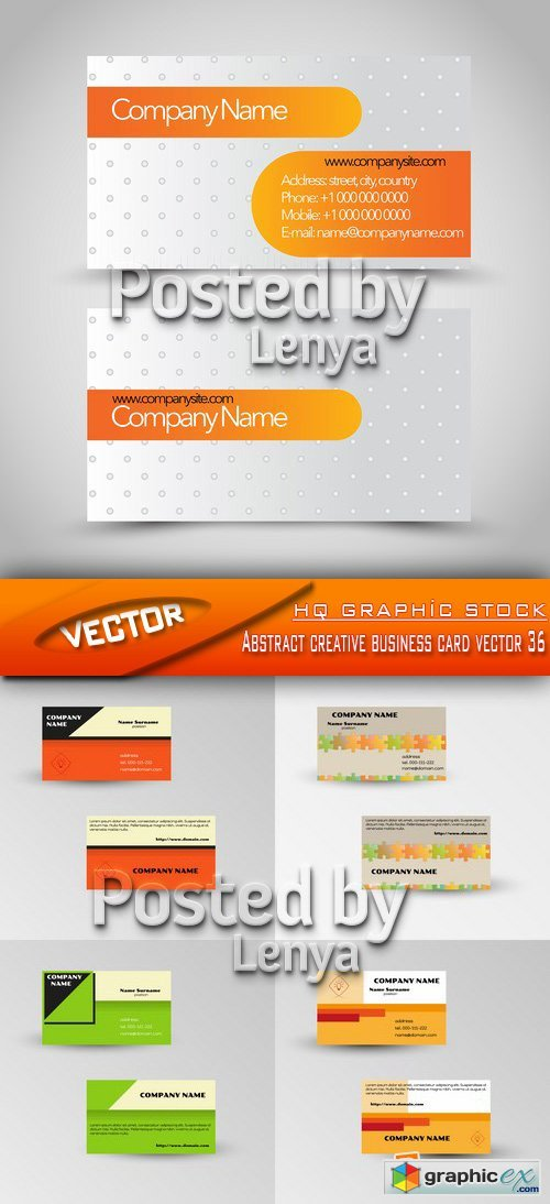 Stock Vector - Abstract creative business card vector 36