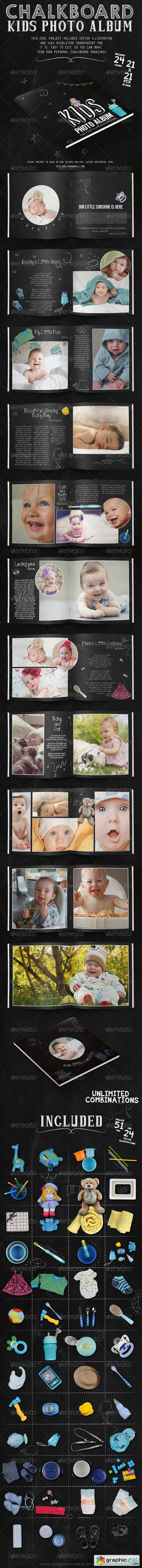 Kids Chalkboard Photo Album 7962535