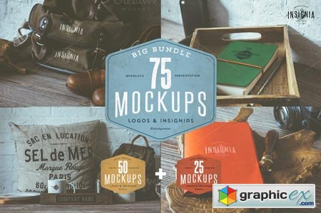 75 Hip Logo Overlay Mock-Ups BUNDLE 54123