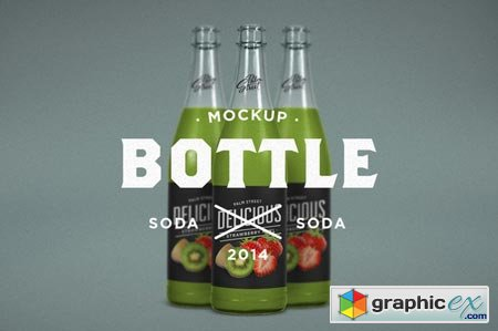 Flavored Soda Mock-Up 63344