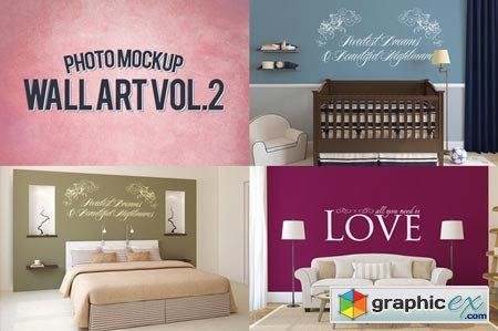 Wall Art Photo Mockups Volume 2 48633