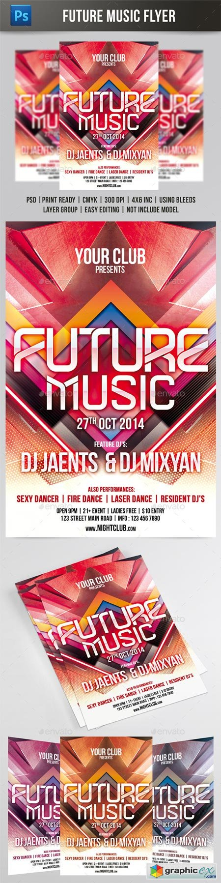 Future Music Flyer 8841341