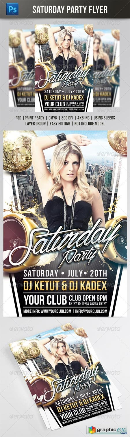 Saturday Party Flyer 8232036