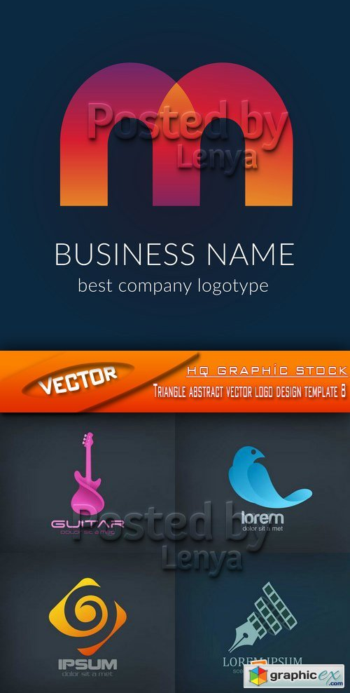 Triangle abstract vector logo design template 08