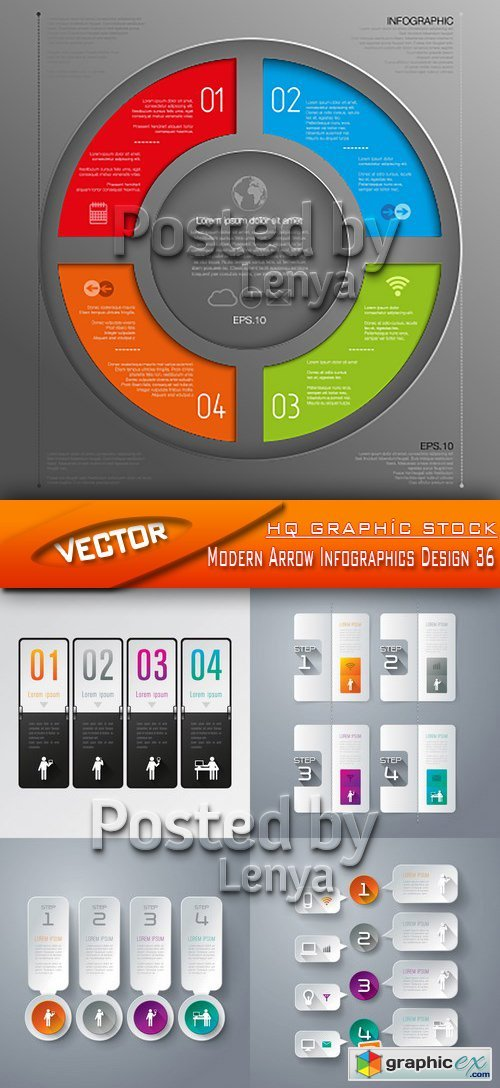 Stock Vector - Modern Arrow Infographics Design 36
