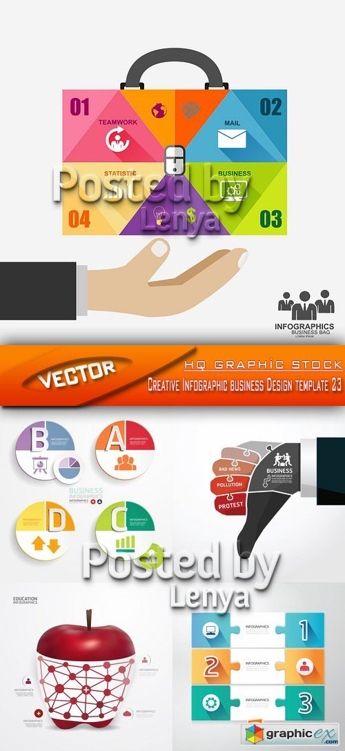 Stock Vector - Creative Infographic business Design template 23