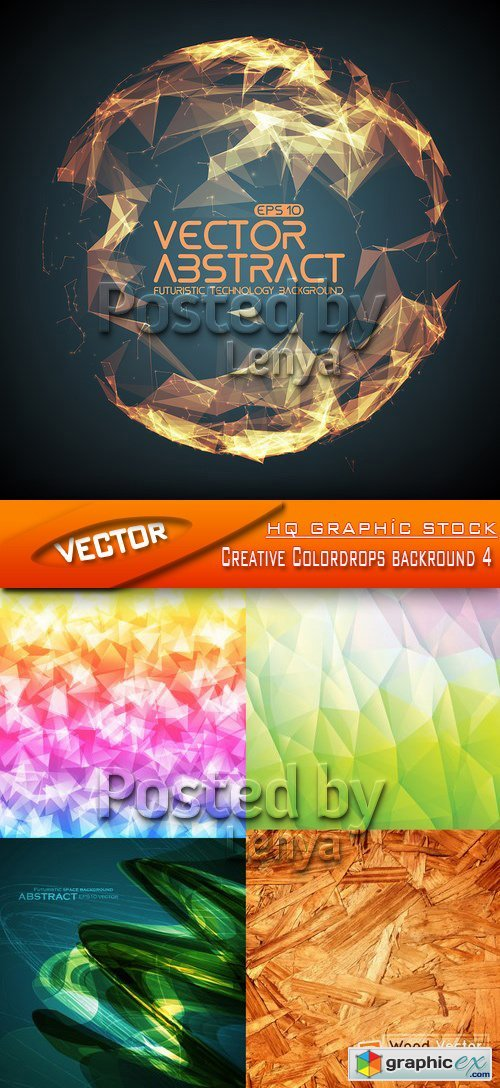 Stock Vector - Creative Colordrops backround 4