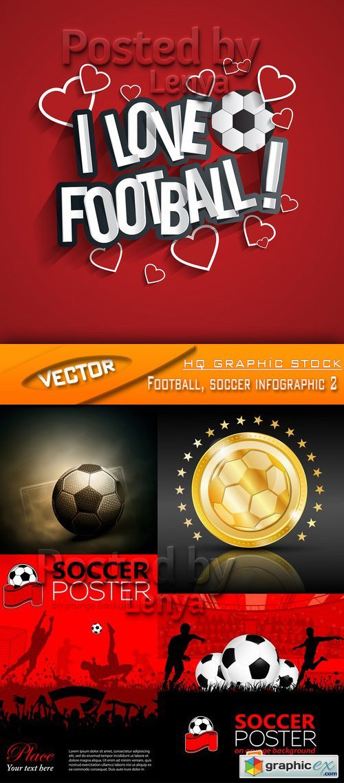 Stock Vector - Football, soccer infographic 2Stock Vector - Football, soccer infographic 2