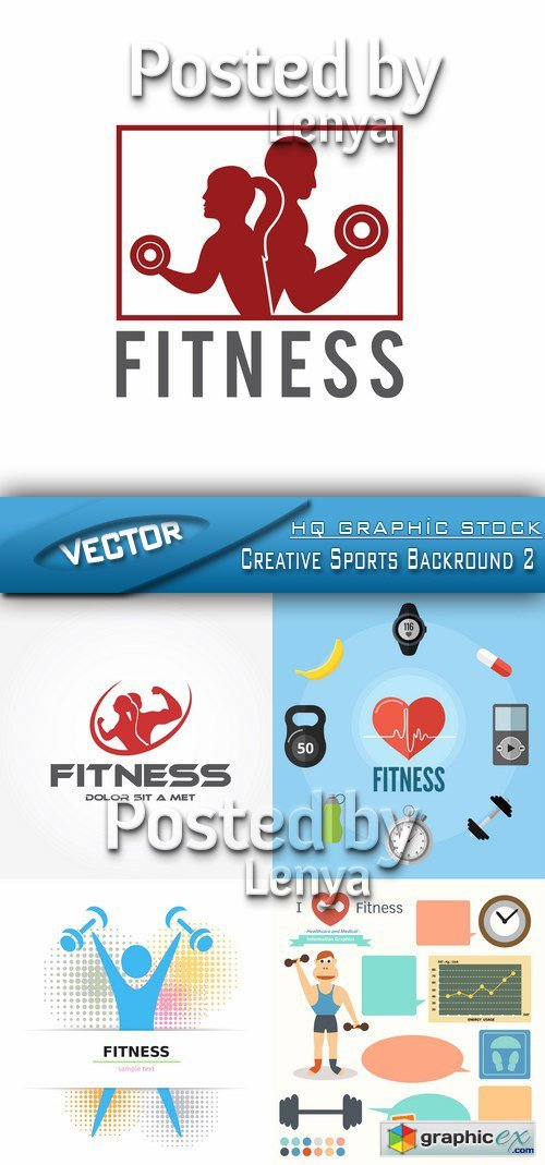 Stock Vector - Creative Sports Backround 2