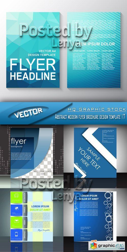 Stock Vector - Abstract modern flyer brochure design template 17