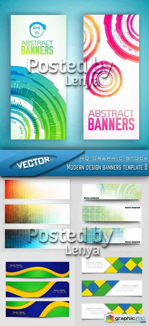 Stock Vector - Modern design banners template 8