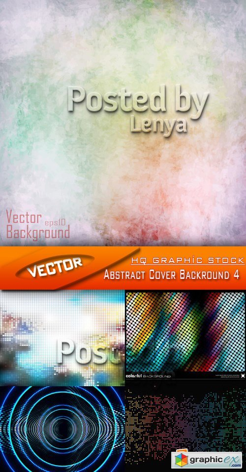 Stock Vector - Abstract Cover Backround 4