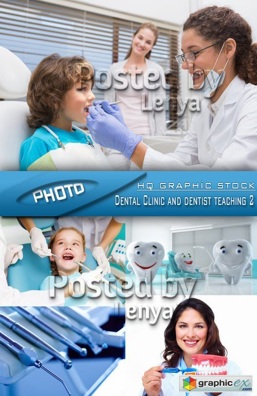 Stock Photo - Dental Clinic and dentist teaching 2
