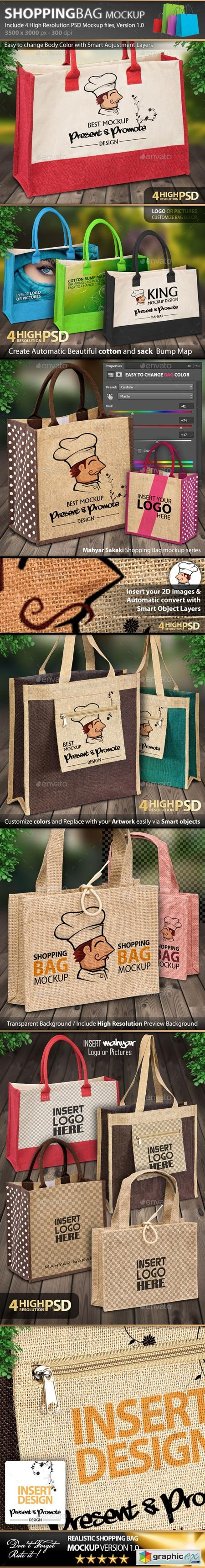 Photorealistic Shopping Bag Mockup V1.0 8929092