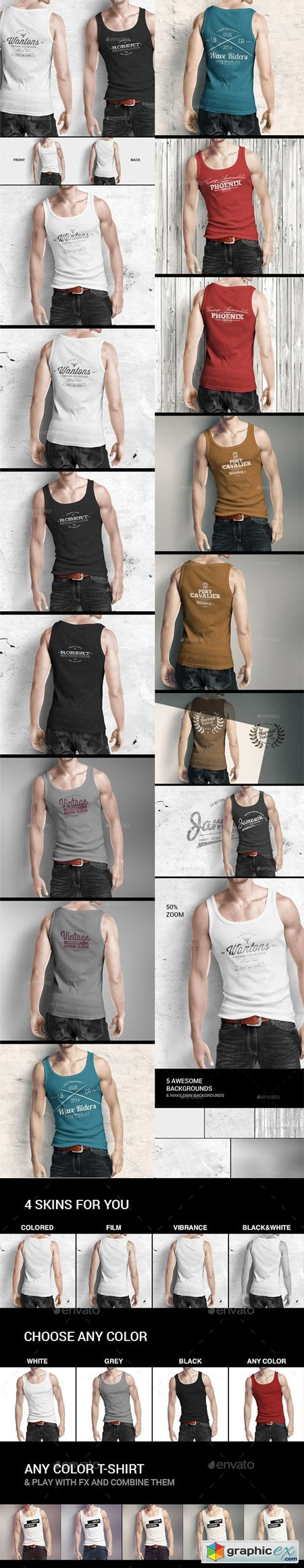 Man Tank Shirt Mock-up 8894495