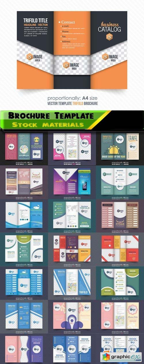 Brochure Template Design in vector 4 25xEPS