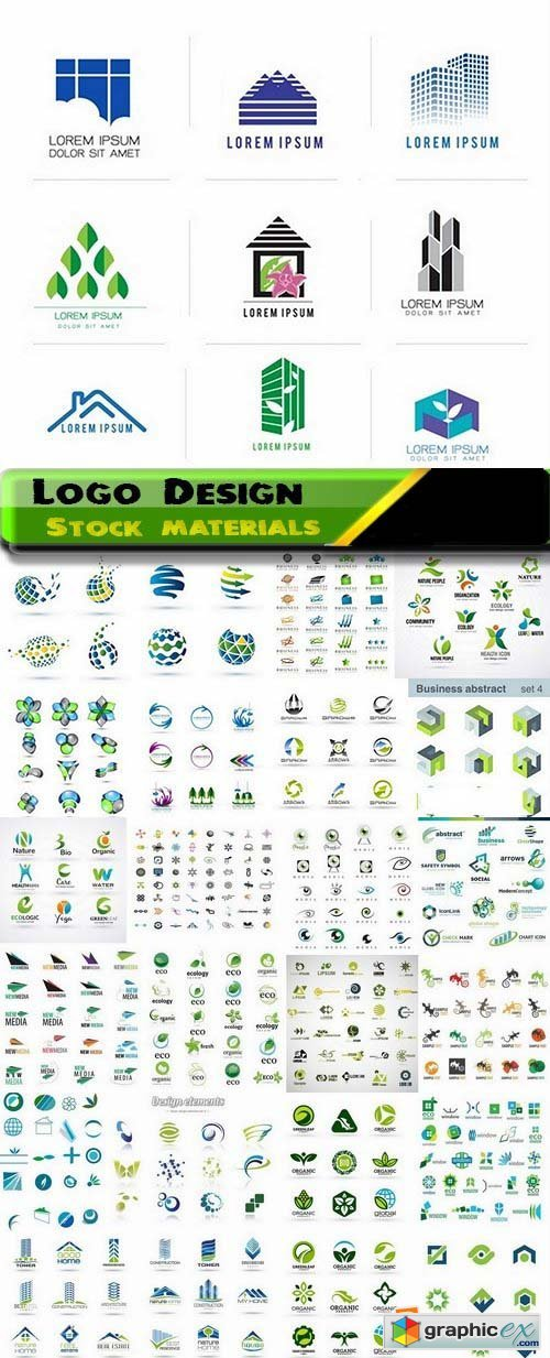Logo Design in vector Set from stock 29 25xEPS