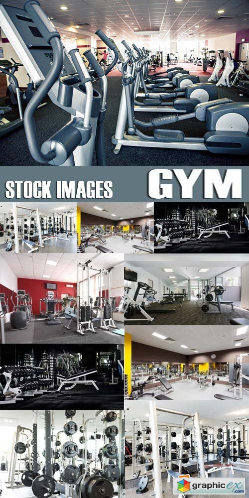Stock Photos - Gym, 25xJPG