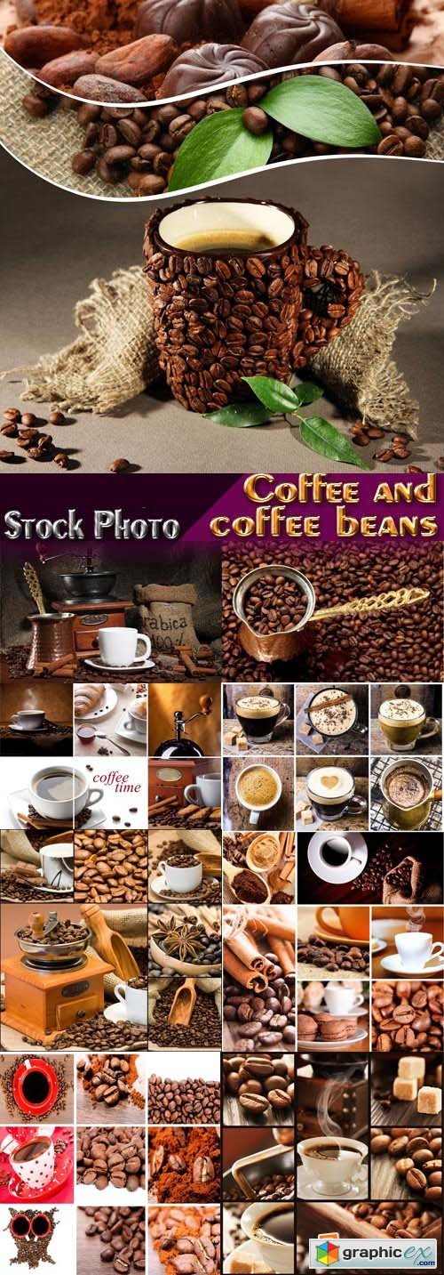 Stock Photos - Coffee and coffee beans, 25xJPG