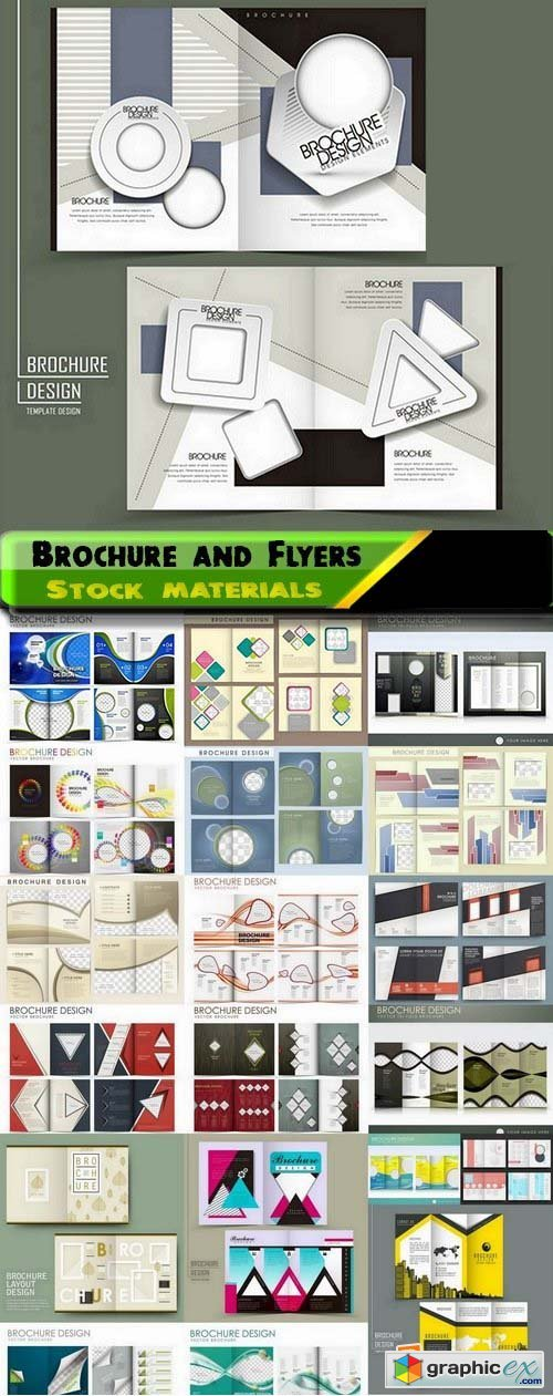 Brochure and Flyers Template Design in vector from stock 15 25xEPS