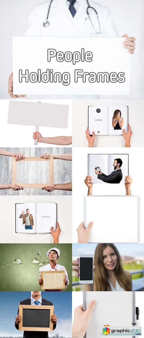 Stock Photos - People Holding Frame » Free Download Vector Stock ...