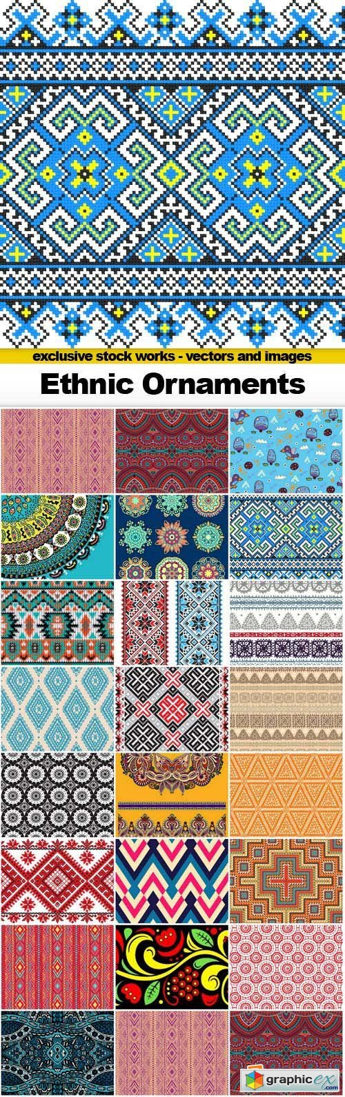 Ethnic Ornaments - 25x EPS