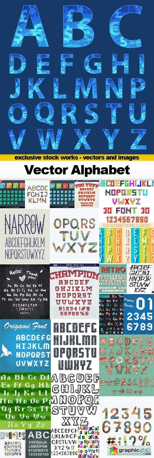 Vector Alphabet - 25x EPS