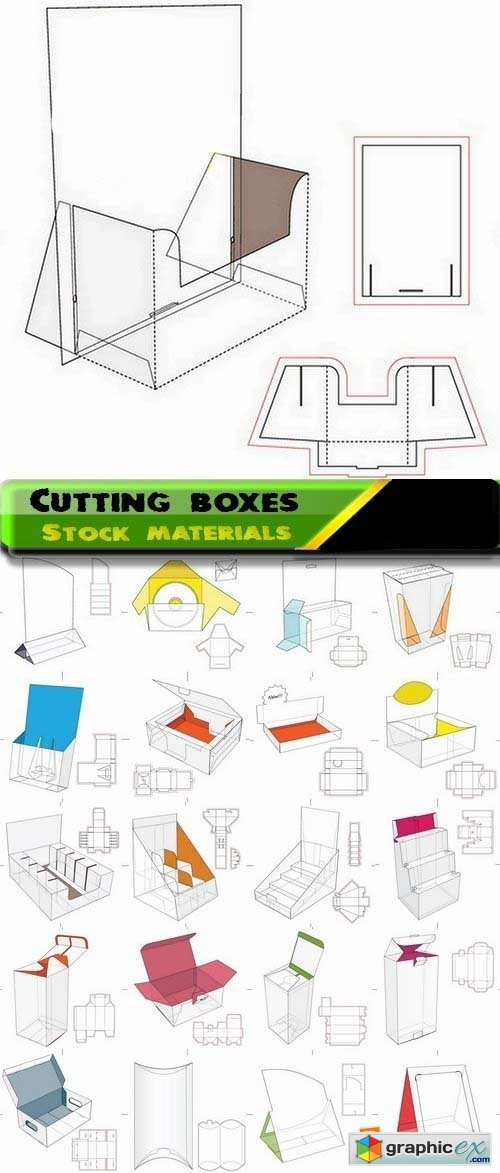 Template for cutting boxes 5 25xEPS