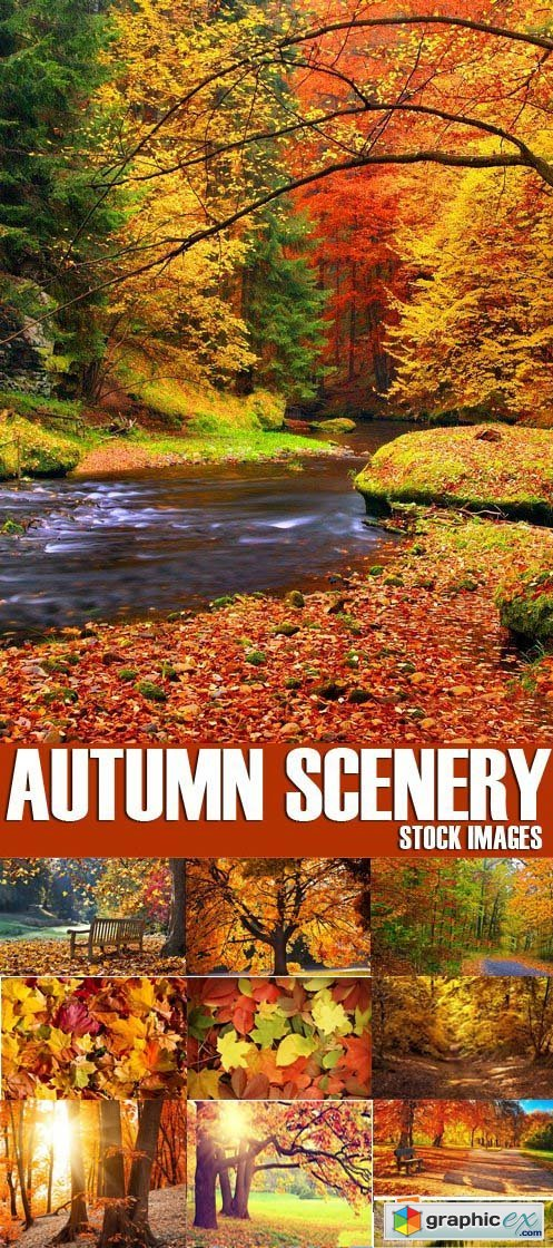 Stock Photos - Autumn scenery, 25xJPG