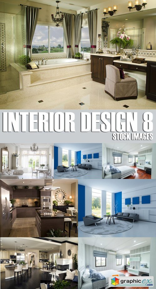 Stock Photos - Interior Design 8, 25xJPG