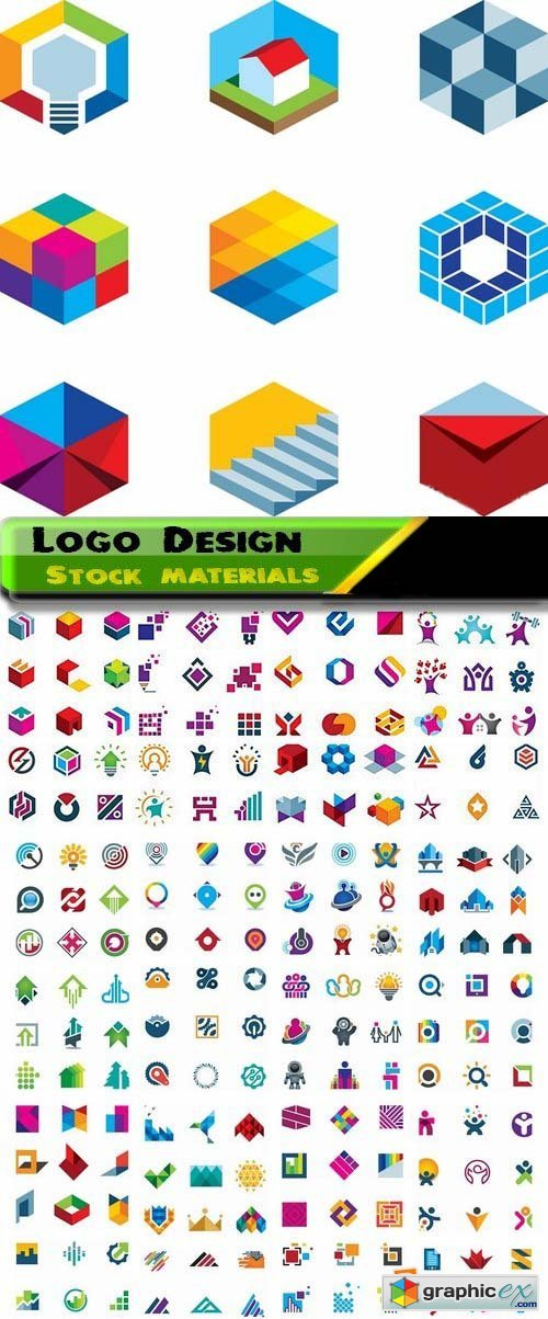 Logo Design in vector Set from stock 30 25xEPS
