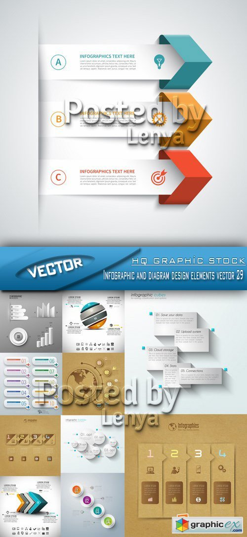 Stock Vector - Infographic and diagram design elements vector 29